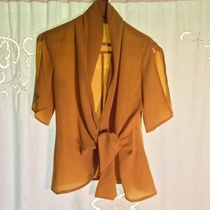 LEITH Mustard Blouse from Nordstrom
